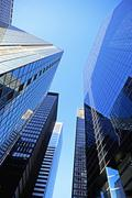 Low angle view of high rises Stock Photos