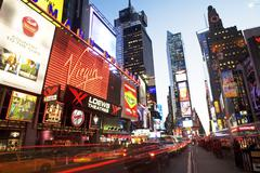 Traffic in Times Square, New York City Stock Photos