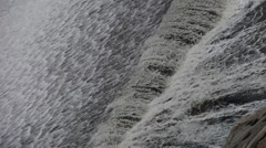 Torrential waterfall & spindrift running. Stock Footage