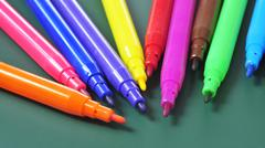 felt-tip pens of different colors - stock photo