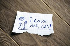 i love you, dad! - stock photo
