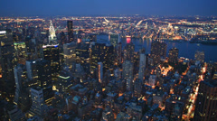 NYC - Manhattan skyscapers at night 01 Stock Footage