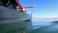 Mono Lake Canoeing 23 Underwater Navy Beach Brine shrimp Stock Footage