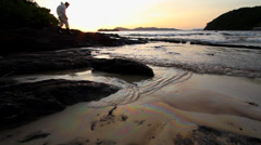 OIL SPILL LANDSCAPE BEAUTIFUL UGLY CONTRASTS - stock footage