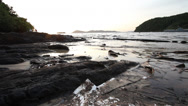 Stock Video Footage of OIL SPILL LANDSCAPE BEAUTIFUL UGLY CONTRASTS