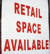 Retail space available sign Stock Photos