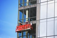 Window cleaners - stock photo