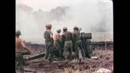 Stock Video Footage of Vietnam War - US Artillery 02