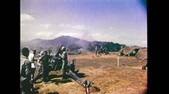 Vietnam War - US Artillery 051 Stock Footage