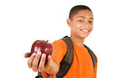 student: apple for the teacher - stock photo
