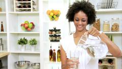 Stock Video Footage of Ethnic Female Healthy Lifestyle Fresh Water