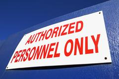 Security sign - stock photo