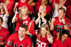 Stock Photo of fans: everyone cheering for their own team