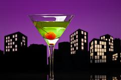 Metropolis apple martini Stock Illustration