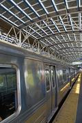 USA, New York State, Brooklyn, Coney Island, Subway Platform - stock photo