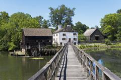 USA, New York State, Hudson Valley, Philipsburg Manor, Sleepy Hollow, historical - stock photo