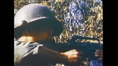 Vietnam War - US Soldiers In Battle 01 Stock Footage