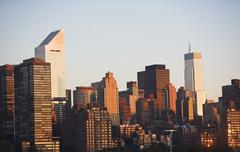 USA, New York State, New York City, Manhattan skyline with Citigroup Center in - stock photo