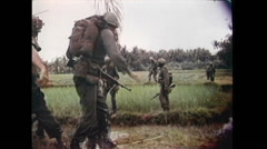Vietnam War - US soldiers In Jungle 01 Stock Footage