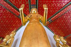 gilded buddha statue - stock photo