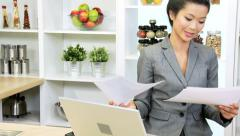 Freelance Female Ethnic Business Advisor Working Home Stock Footage