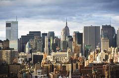 USA, New York City, Manhattan skyline - stock photo