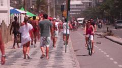 Walking. Rio de Janeiro Stock Footage
