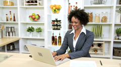 Female African American Business Advisor Working Home - stock footage