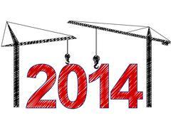 2014 cranes Stock Illustration
