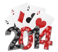 2014 poker Stock Illustration