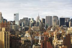 USA, New York City, Manhattan skyline Stock Photos
