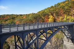 USA, New York, Croton, footbridge Stock Photos