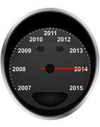 Odometer 2014 Stock Illustration