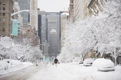 Stock Photo of USA, New York City, Park Avenue in winter