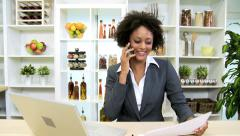 Independent Female Ethnic Financial Advisor Working Home Stock Footage