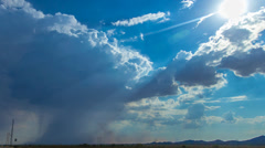 HD 30p tight Storm cell generates small haboob in the Arizona desert Stock Footage