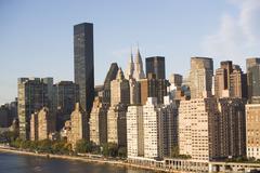 USA, New York City, Manhattan skyline Stock Photos
