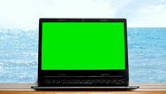 Stock Video Footage of green screen on a laptop
