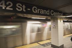 USA, New York City, Manhattan, 42 Street-Grand Central underground station Stock Photos