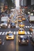 USA, New York City, Manhattan, Liikenne 42nd Street Kuvituskuvat