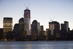 Stock Photo of USA, New York City, Hudson River and Manhattan skyline
