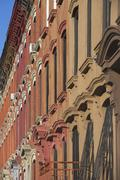 USA, New York, New York City, Brooklyn, Close up of apartment building - stock photo
