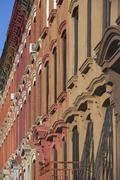 USA, New York, New York City, Brooklyn, Close up of apartment building Stock Photos