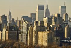 USA, New York, New York City, Manhattan, Skyline aamunkoitteessa Kuvituskuvat