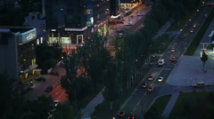 Night Traffic - stock footage