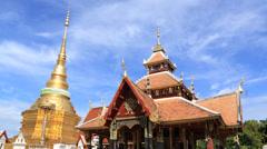 Wat pong sanuk ,lampang,Thailand Stock Footage