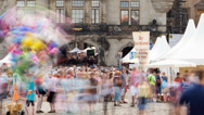 Stock Video Footage of Dresden Stadtfest Timelapse