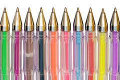 color ballpoint pens - stock photo