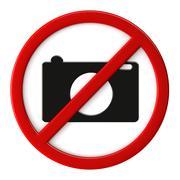 cameras not allowed - stock illustration