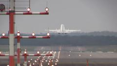 Airplane takeoff - stock footage